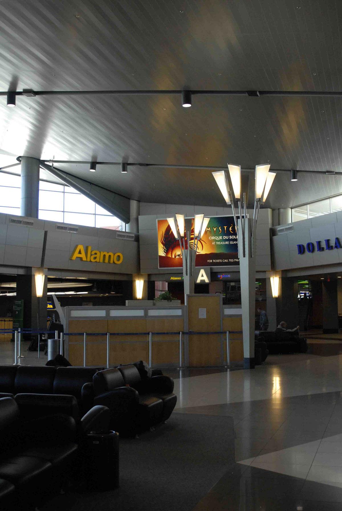 Fireart Glass Mccarren Airport Lighting